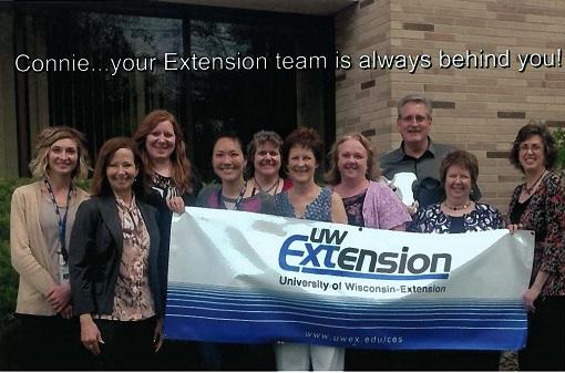 UWEX Staff photo with words